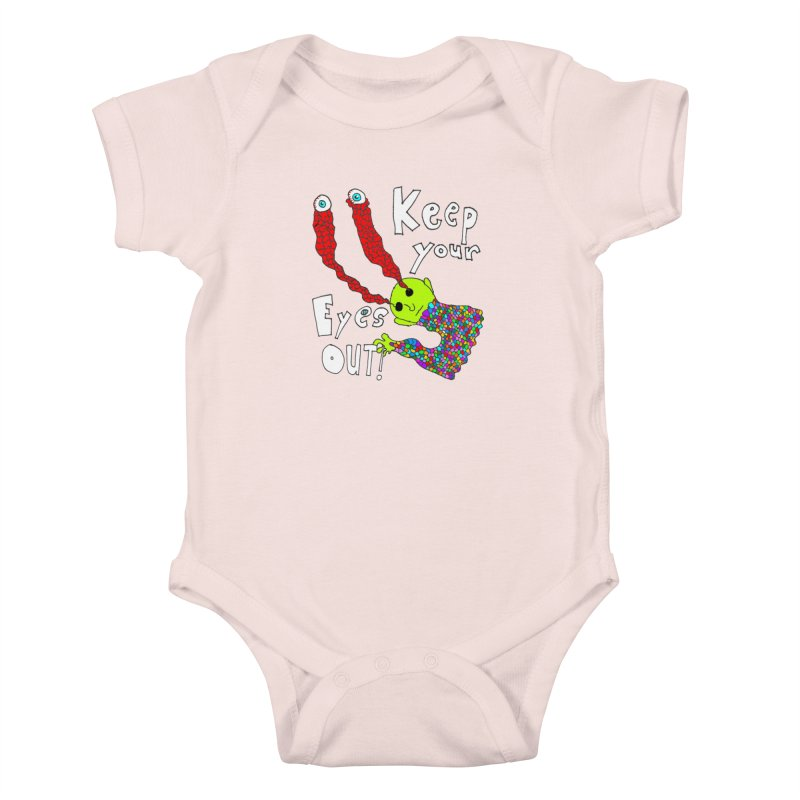 Keep Your Eyes Out! Kids Baby Bodysuit by LlamapajamaTs's Artist Shop