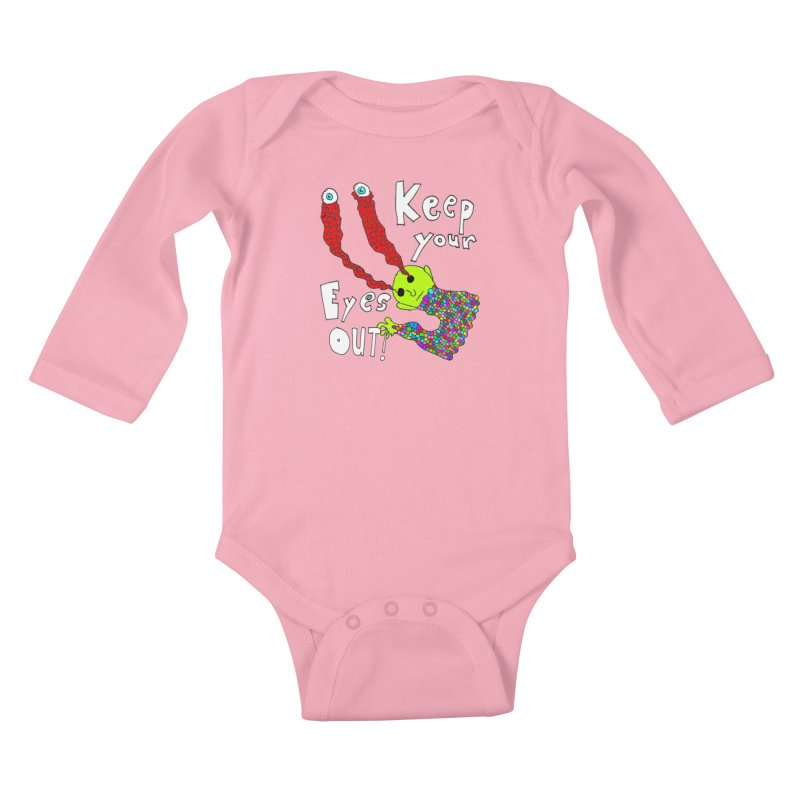 Keep Your Eyes Out! Kids Baby Longsleeve Bodysuit by LlamapajamaTs's Artist Shop