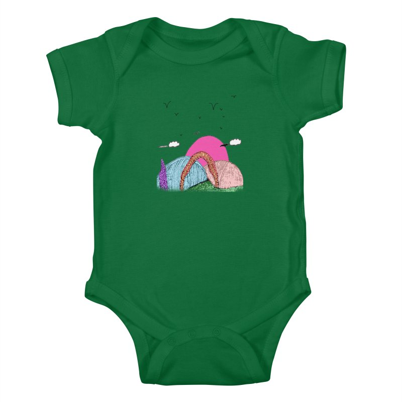 Telepathic Tesselations Kids Baby Bodysuit by LlamapajamaTs's Artist Shop