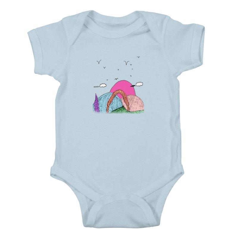 Telepathic Tesselations Kids Baby Bodysuit by LlamapajamaTs's Artist Shop