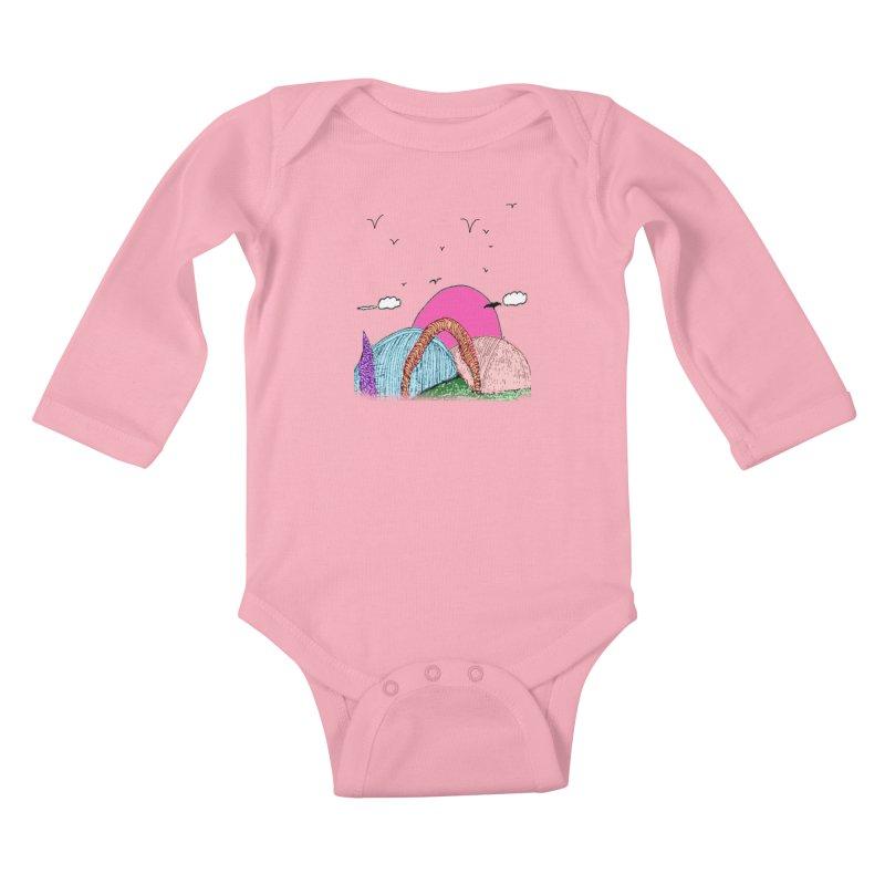 Telepathic Tesselations Kids Baby Longsleeve Bodysuit by LlamapajamaTs's Artist Shop