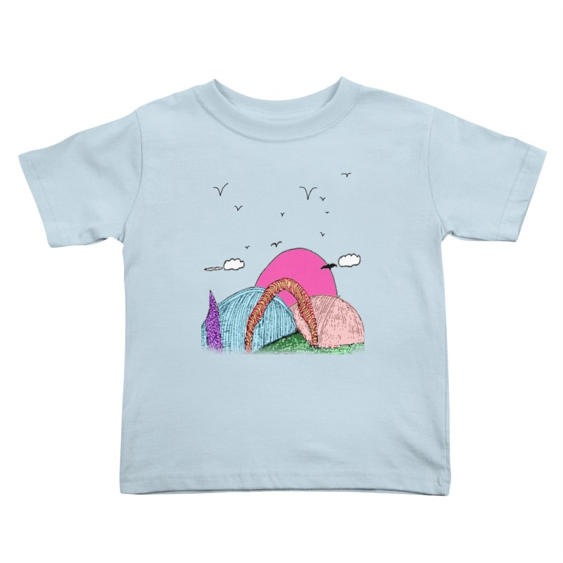 Telepathic Tesselations Kids Toddler T-Shirt by LlamapajamaTs's Artist Shop