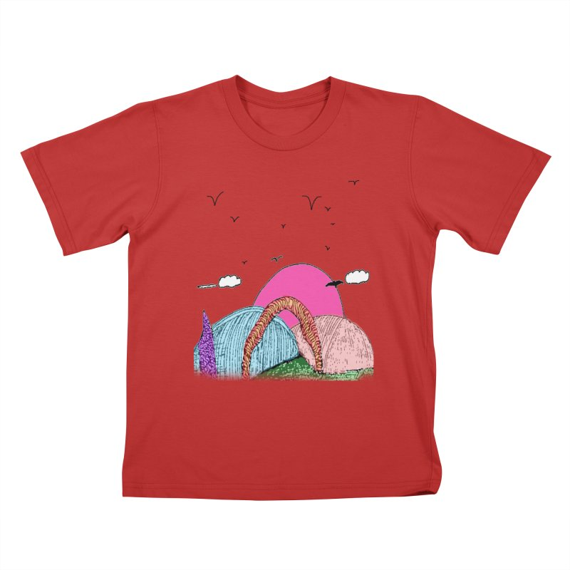 Telepathic Tesselations Kids T-Shirt by LlamapajamaTs's Artist Shop