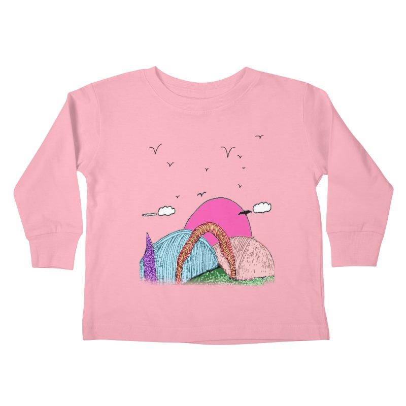Telepathic Tesselations Kids Toddler Longsleeve T-Shirt by LlamapajamaTs's Artist Shop