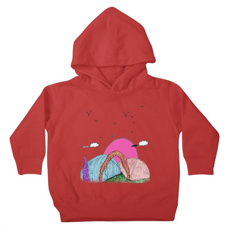 Telepathic Tesselations Kids Toddler Pullover Hoody by LlamapajamaTs's Artist Shop