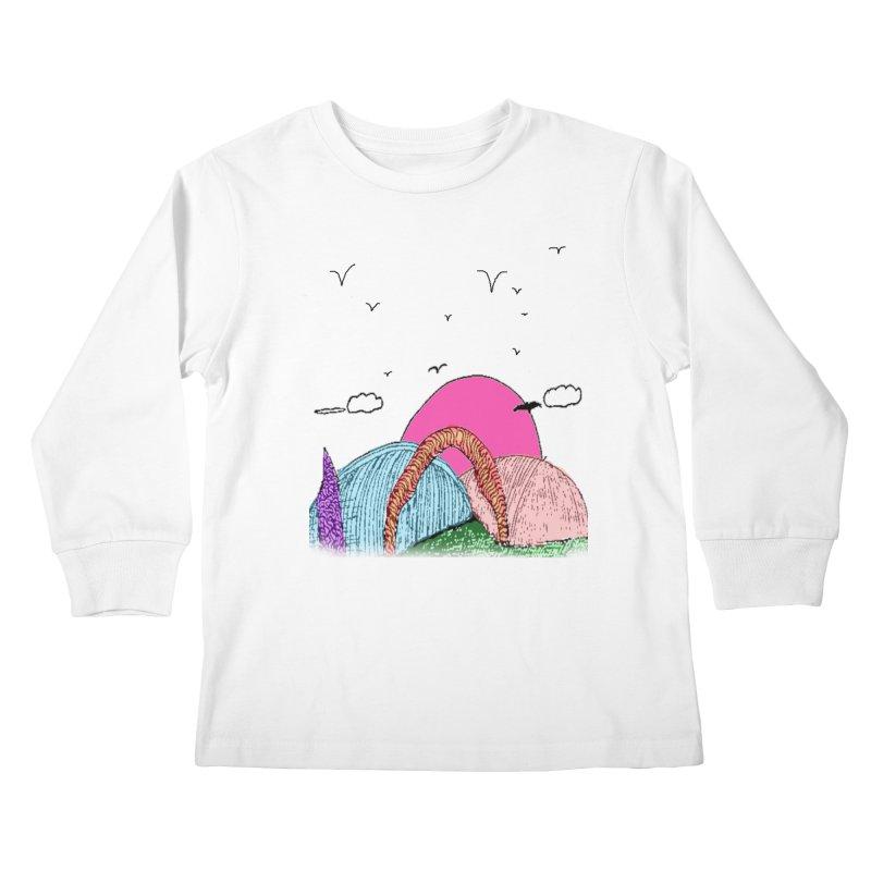 Telepathic Tesselations Kids Longsleeve T-Shirt by LlamapajamaTs's Artist Shop