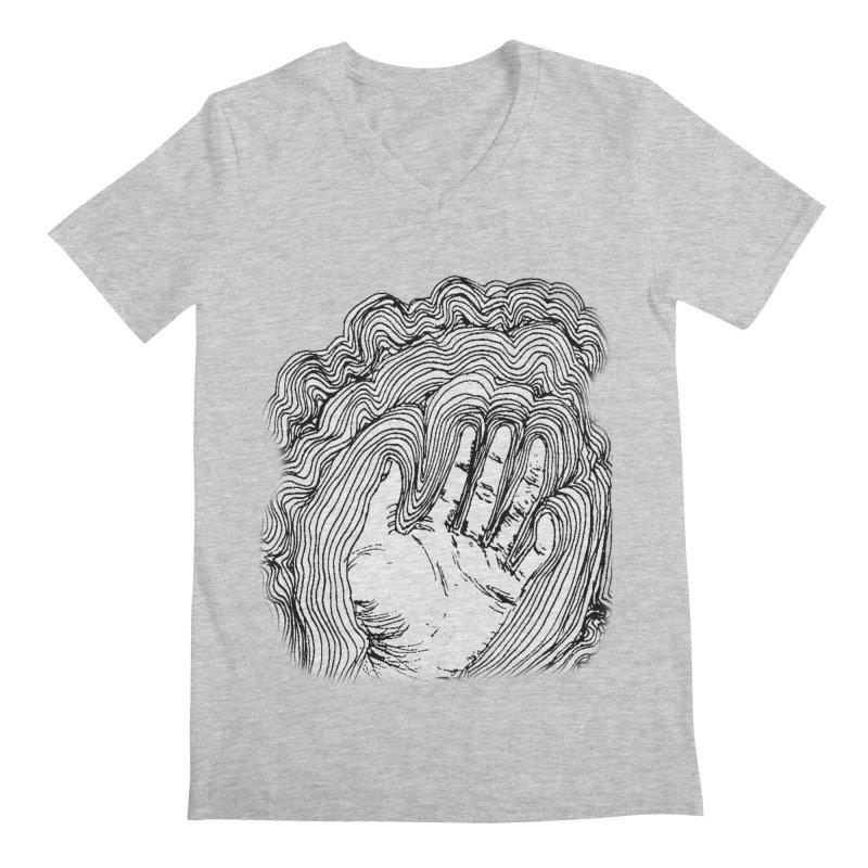 Give Me A Hand? Men's V-Neck by LlamapajamaTs's Artist Shop