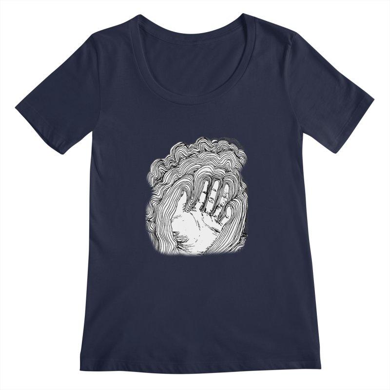 Give Me A Hand? Women's Scoopneck by LlamapajamaTs's Artist Shop