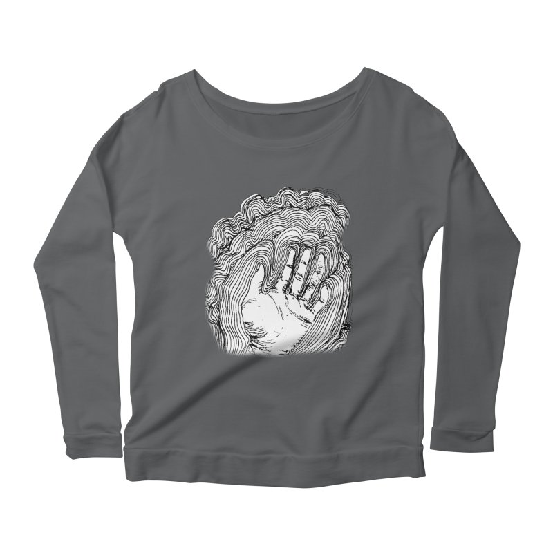 Give Me A Hand? Women's Longsleeve Scoopneck  by LlamapajamaTs's Artist Shop