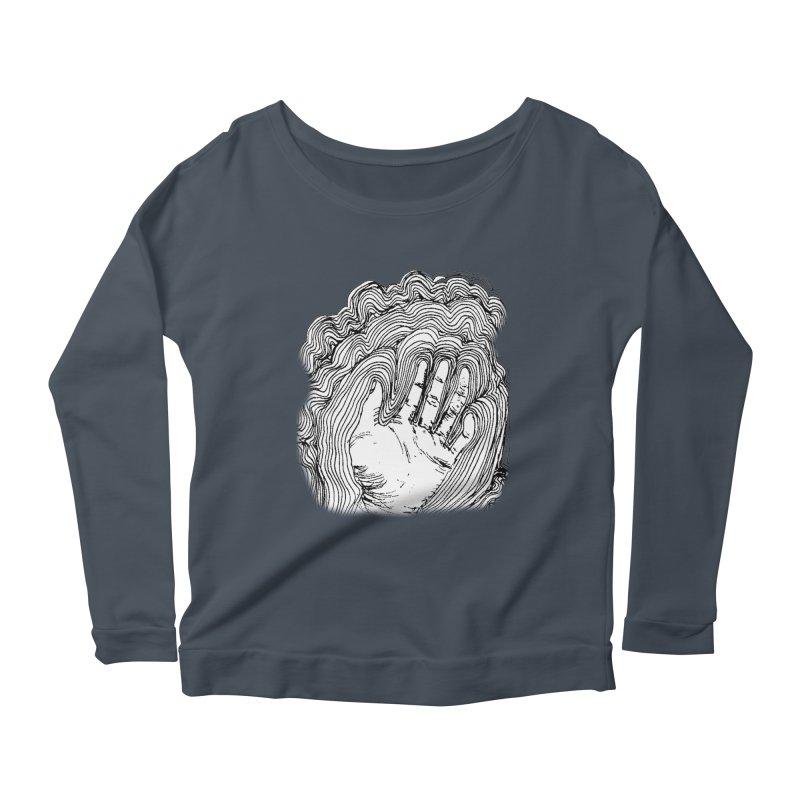 Give Me A Hand? Women's Longsleeve Scoopneck  by LlamapajamaTs's Artist Shop