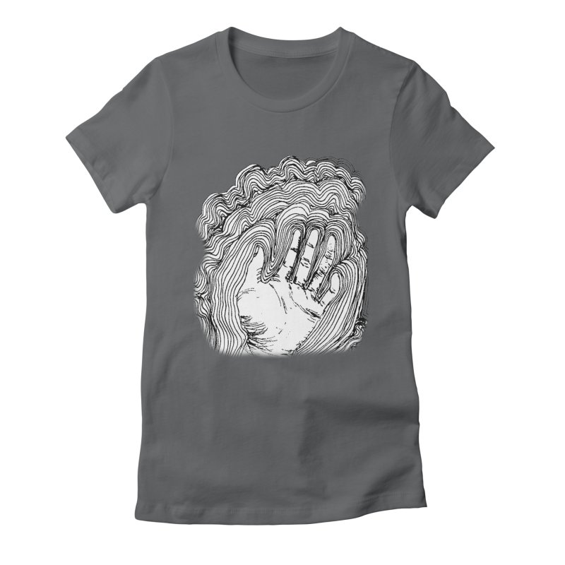 Give Me A Hand? Women's Fitted T-Shirt by LlamapajamaTs's Artist Shop