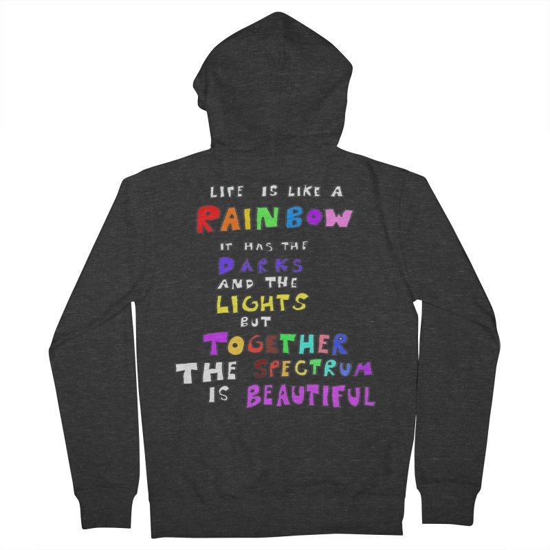 Life is Beautiful and Complicated, So Love It! Women's Zip-Up Hoody by LlamapajamaTs's Artist Shop
