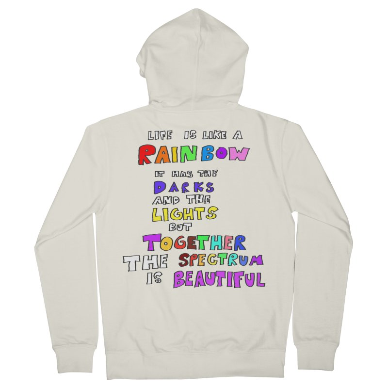 Life is Beautiful and Complicated, So Love It! Men's Zip-Up Hoody by LlamapajamaTs's Artist Shop