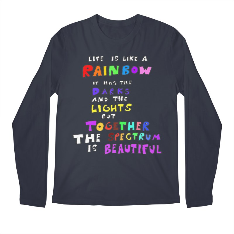 Life is Beautiful and Complicated, So Love It! Men's Longsleeve T-Shirt by LlamapajamaTs's Artist Shop