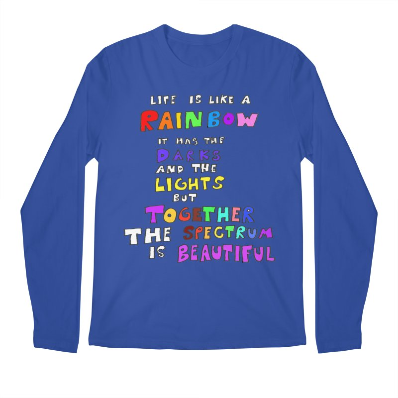 Life is Beautiful and Complicated, So Love It! Men's Longsleeve T-Shirt by LlamapajamaTs's Artist Shop