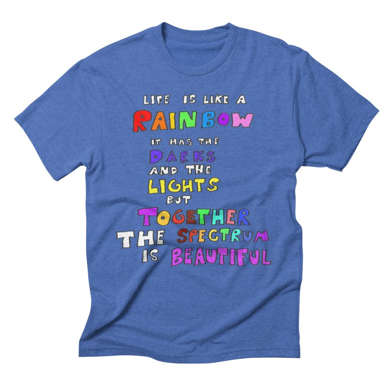 Life is Beautiful and Complicated, So Love It! Men's Triblend T-shirt by LlamapajamaTs's Artist Shop