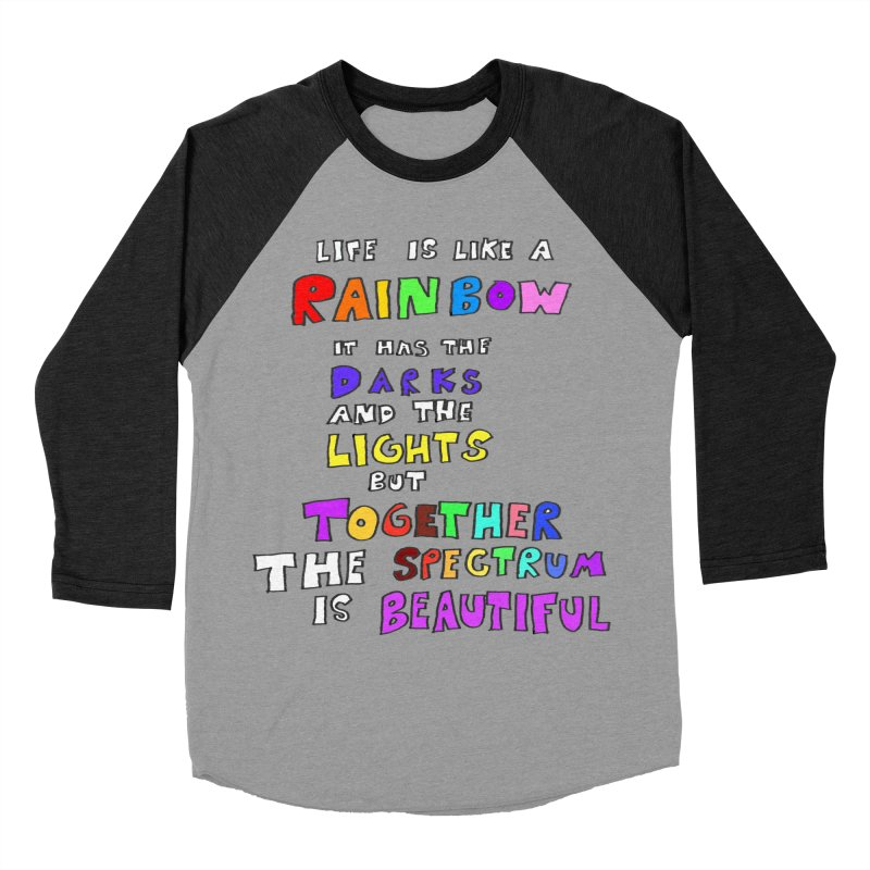Life is Beautiful and Complicated, So Love It! Men's Baseball Triblend T-Shirt by LlamapajamaTs's Artist Shop