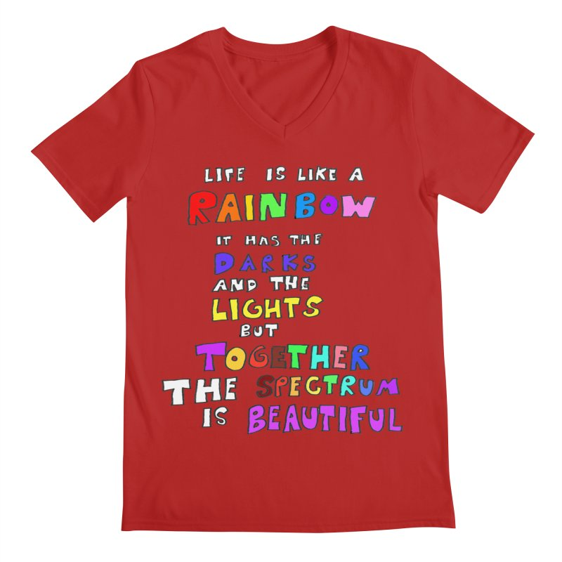 Life is Beautiful and Complicated, So Love It! Men's V-Neck by LlamapajamaTs's Artist Shop
