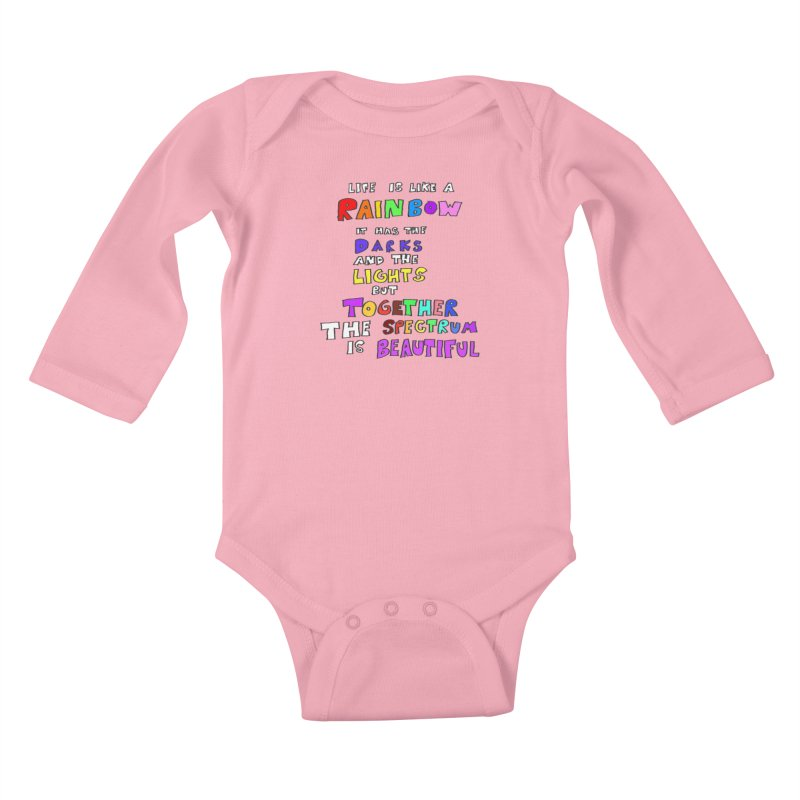 Life is Beautiful and Complicated, So Love It! Kids Baby Longsleeve Bodysuit by LlamapajamaTs's Artist Shop