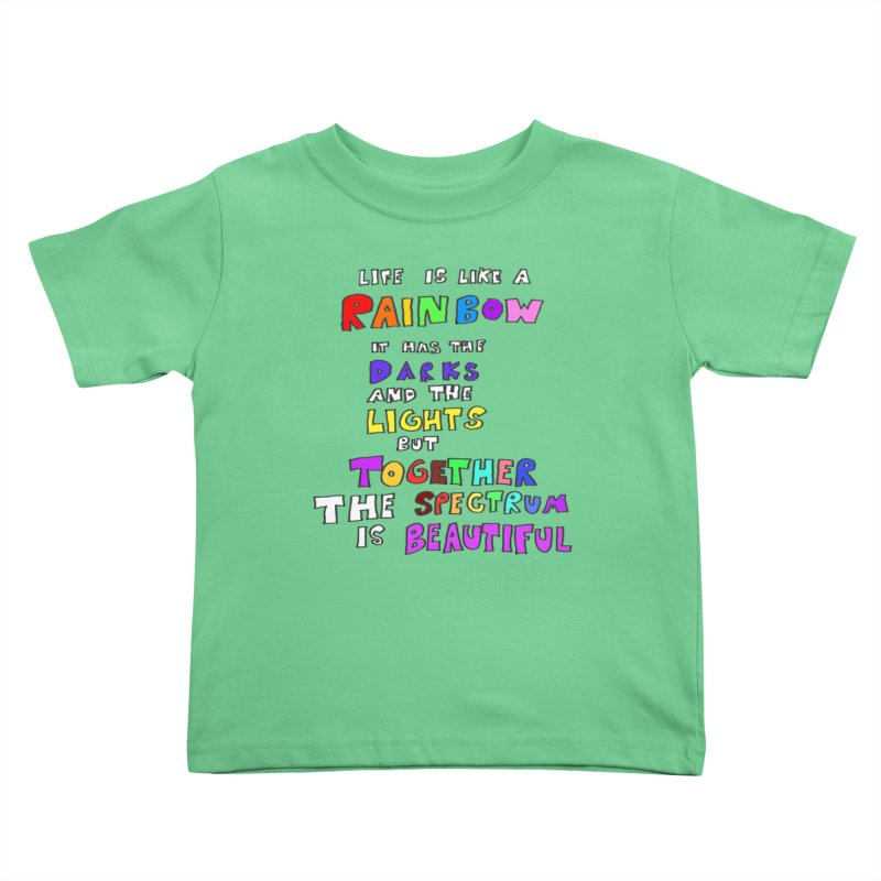 Life is Beautiful and Complicated, So Love It! Kids Toddler T-Shirt by LlamapajamaTs's Artist Shop