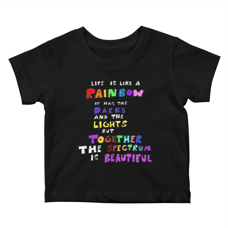 Life is Beautiful and Complicated, So Love It! Kids Baby T-Shirt by LlamapajamaTs's Artist Shop