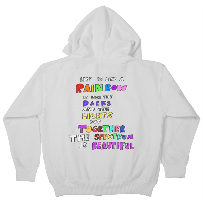 Life is Beautiful and Complicated, So Love It! Kids Zip-Up Hoody by LlamapajamaTs's Artist Shop