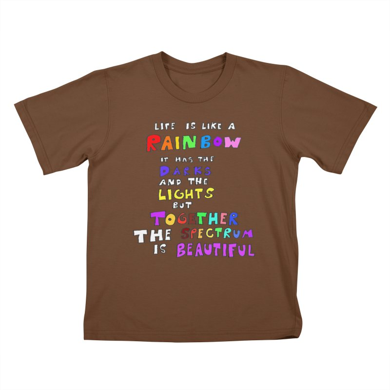 Life is Beautiful and Complicated, So Love It! Kids T-shirt by LlamapajamaTs's Artist Shop