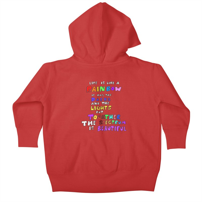 Life is Beautiful and Complicated, So Love It! Kids Baby Zip-Up Hoody by LlamapajamaTs's Artist Shop
