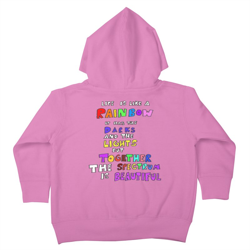 Life is Beautiful and Complicated, So Love It! Kids Toddler Zip-Up Hoody by LlamapajamaTs's Artist Shop