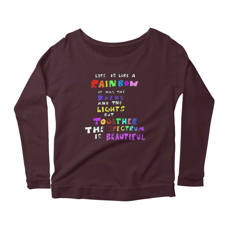 Life is Beautiful and Complicated, So Love It! Women's Longsleeve Scoopneck  by LlamapajamaTs's Artist Shop