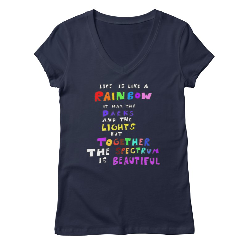 Life is Beautiful and Complicated, So Love It! Women's V-Neck by LlamapajamaTs's Artist Shop
