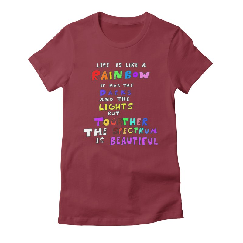 Life is Beautiful and Complicated, So Love It! Women's Fitted T-Shirt by LlamapajamaTs's Artist Shop