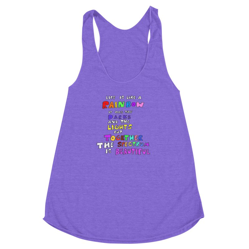 Life is Beautiful and Complicated, So Love It! Women's Racerback Triblend Tank by LlamapajamaTs's Artist Shop
