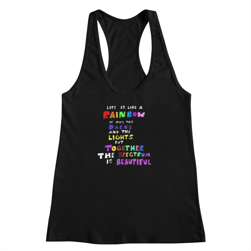 Life is Beautiful and Complicated, So Love It! Women's Racerback Tank by LlamapajamaTs's Artist Shop
