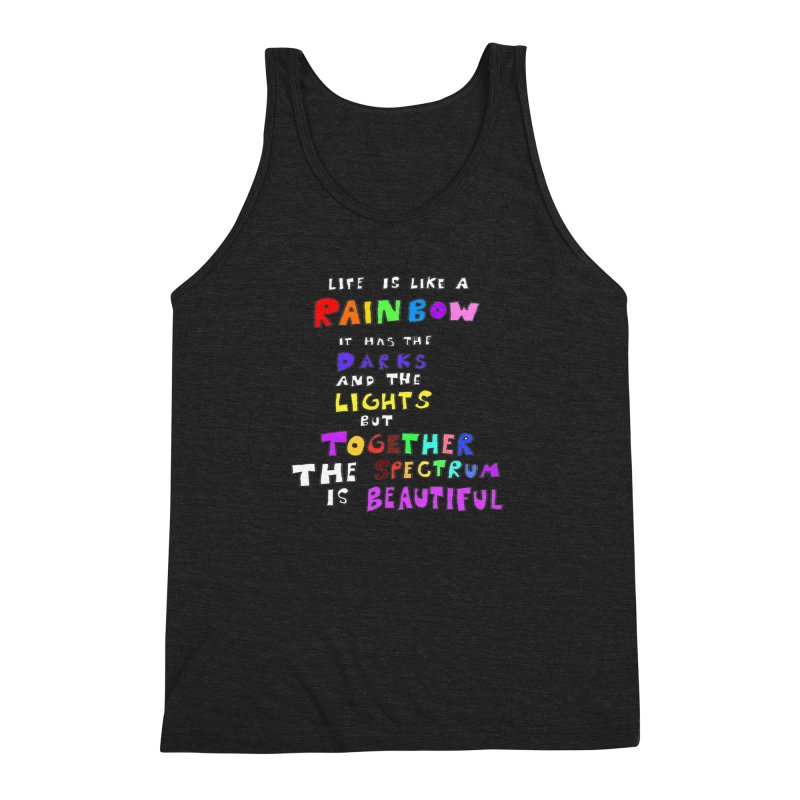 Life is Beautiful and Complicated, So Love It! Men's Triblend Tank by LlamapajamaTs's Artist Shop