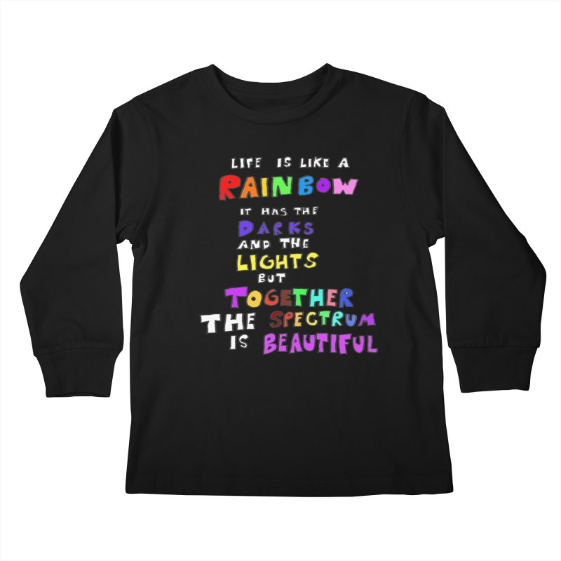 Life is Beautiful and Complicated, So Love It! Kids Longsleeve T-Shirt by LlamapajamaTs's Artist Shop