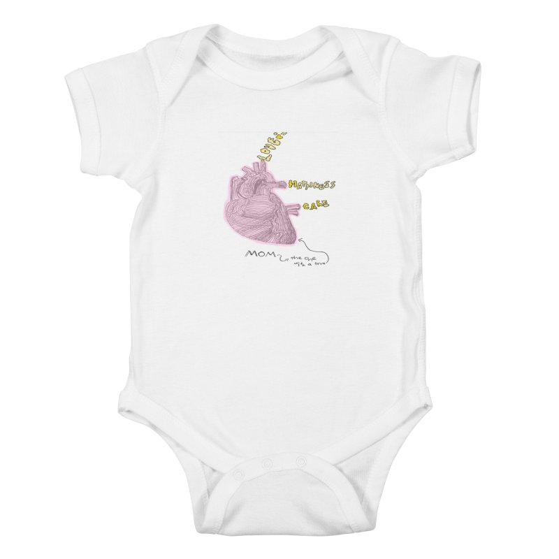 Love Factory Kids Baby Bodysuit by LlamapajamaTs's Artist Shop
