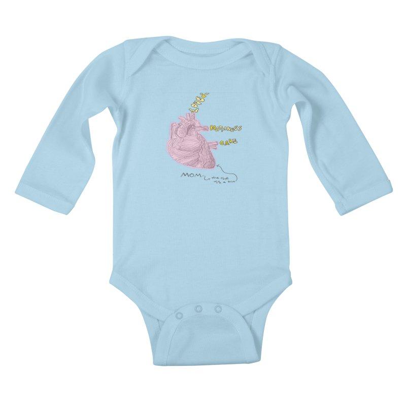 Love Factory Kids Baby Longsleeve Bodysuit by LlamapajamaTs's Artist Shop