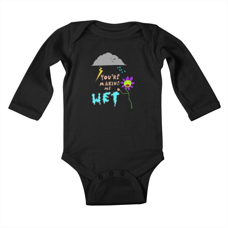 You're Making Me Wet Kids Baby Longsleeve Bodysuit by LlamapajamaTs's Artist Shop
