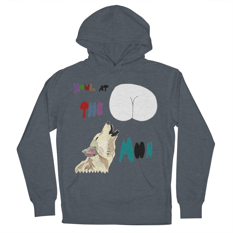 Howl at the Moon Men's Pullover Hoody by LlamapajamaTs's Artist Shop