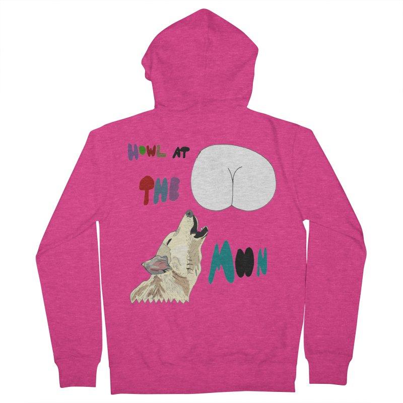 Howl at the Moon Women's Zip-Up Hoody by LlamapajamaTs's Artist Shop