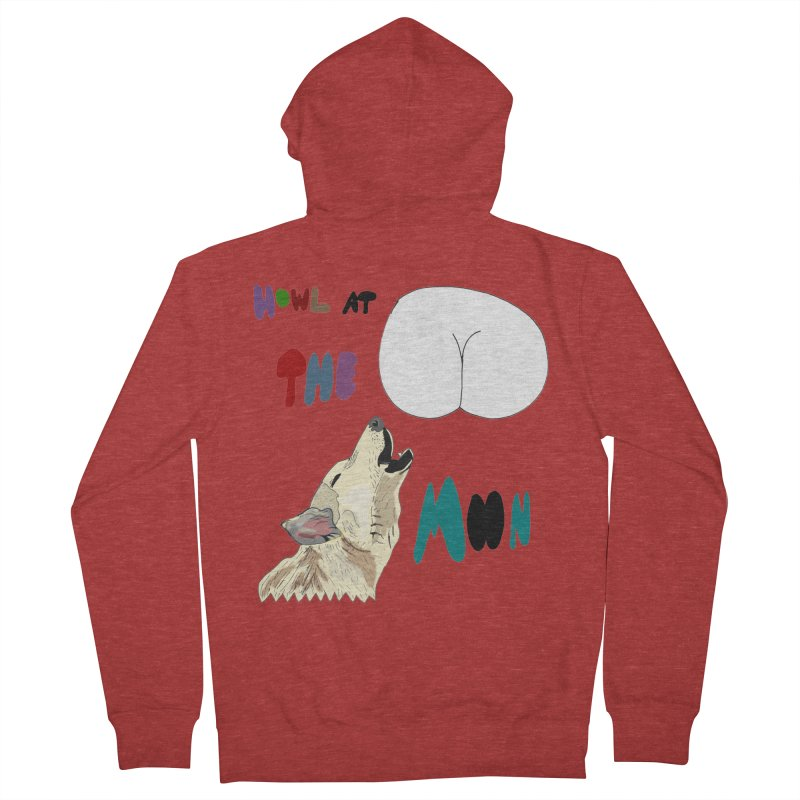 Howl at the Moon Men's Zip-Up Hoody by LlamapajamaTs's Artist Shop