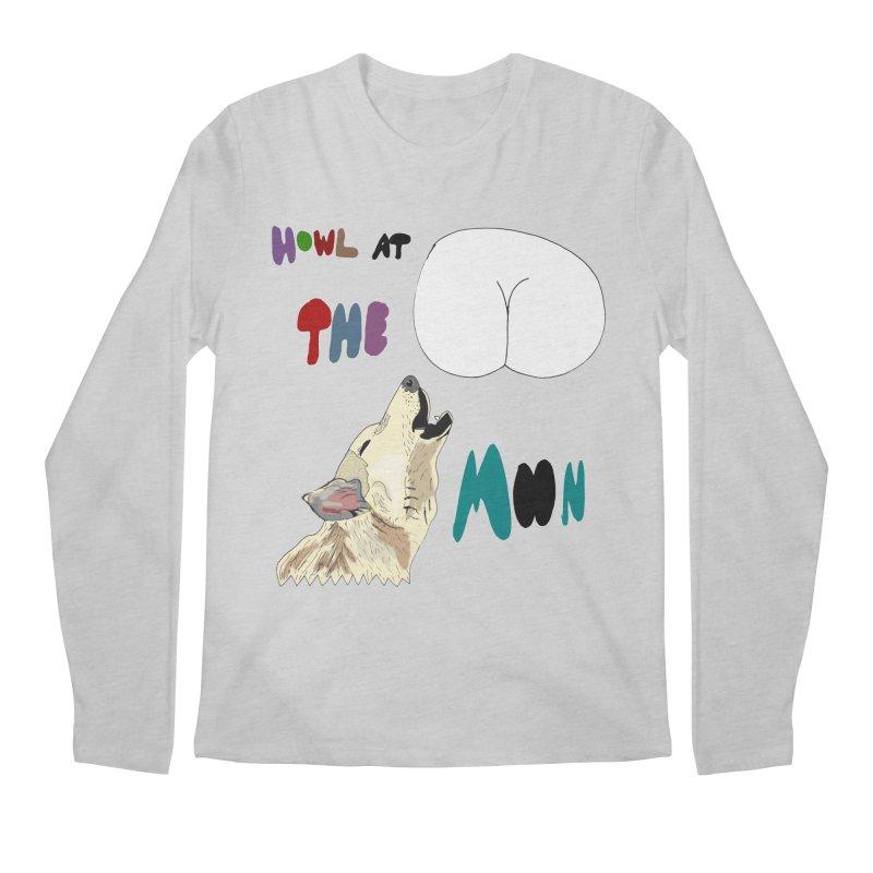 Howl at the Moon Men's Longsleeve T-Shirt by LlamapajamaTs's Artist Shop
