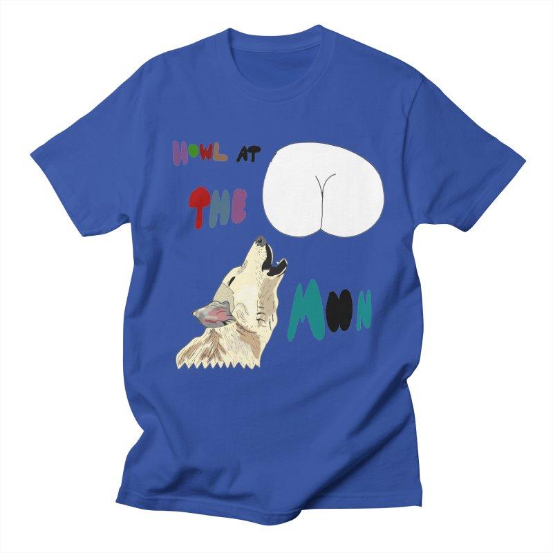 Howl at the Moon Men's T-shirt by LlamapajamaTs's Artist Shop