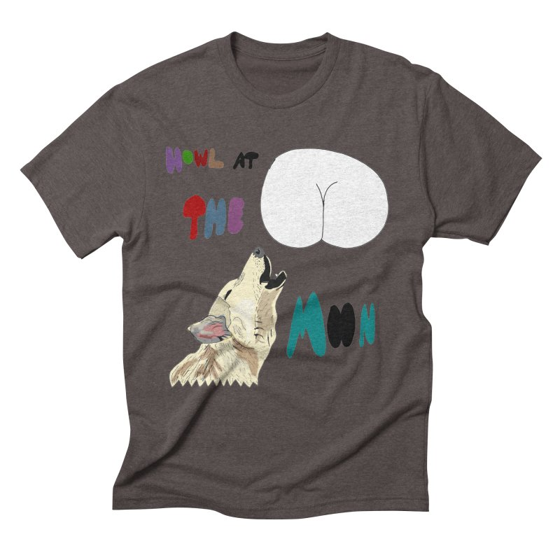 Howl at the Moon Men's Triblend T-Shirt by LlamapajamaTs's Artist Shop