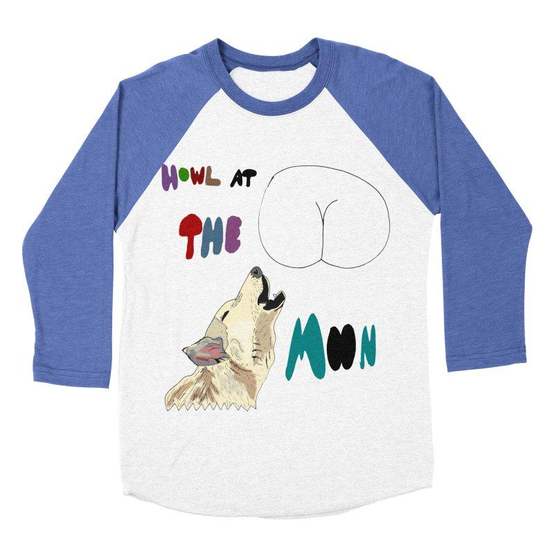 Howl at the Moon Women's Baseball Triblend T-Shirt by LlamapajamaTs's Artist Shop