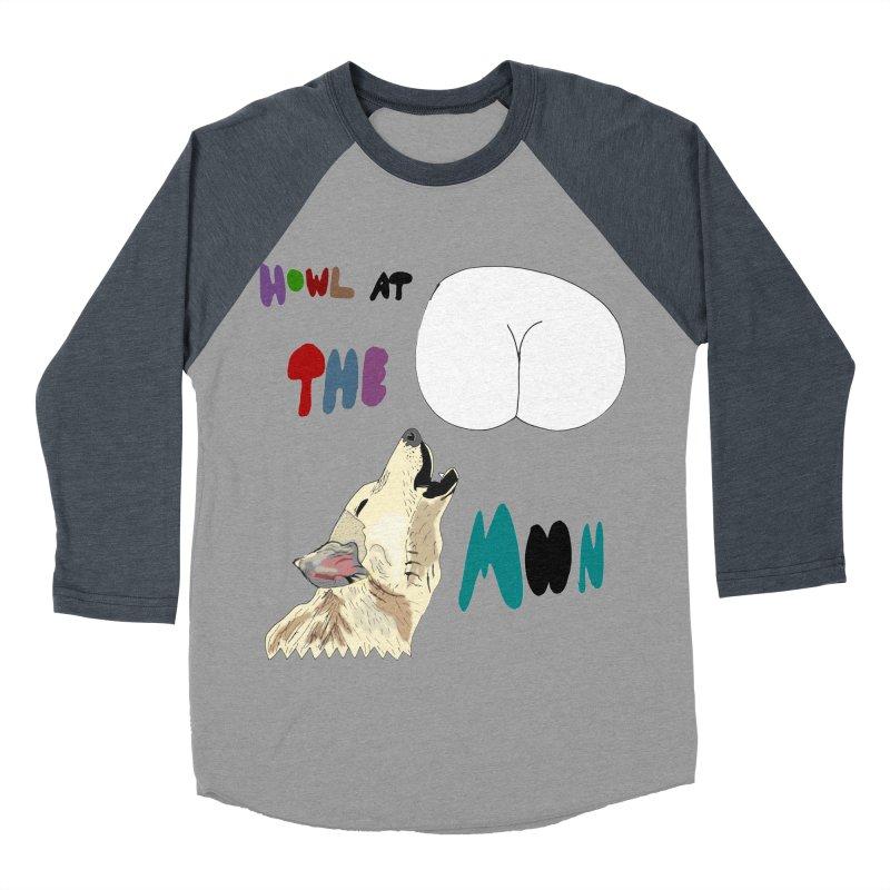 Howl at the Moon Men's Baseball Triblend T-Shirt by LlamapajamaTs's Artist Shop