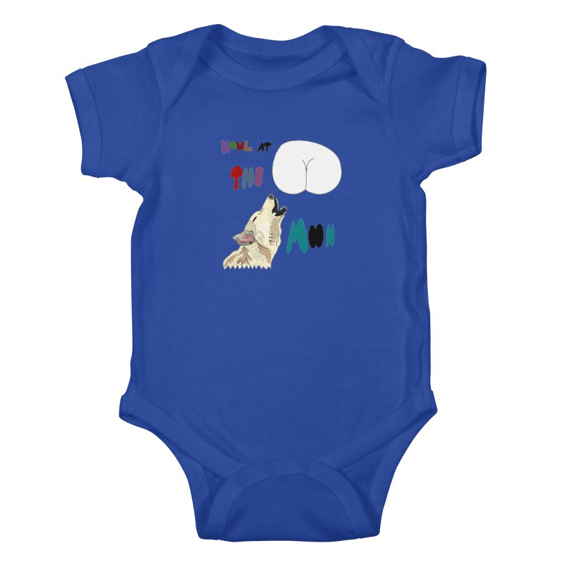 Howl at the Moon Kids Baby Bodysuit by LlamapajamaTs's Artist Shop