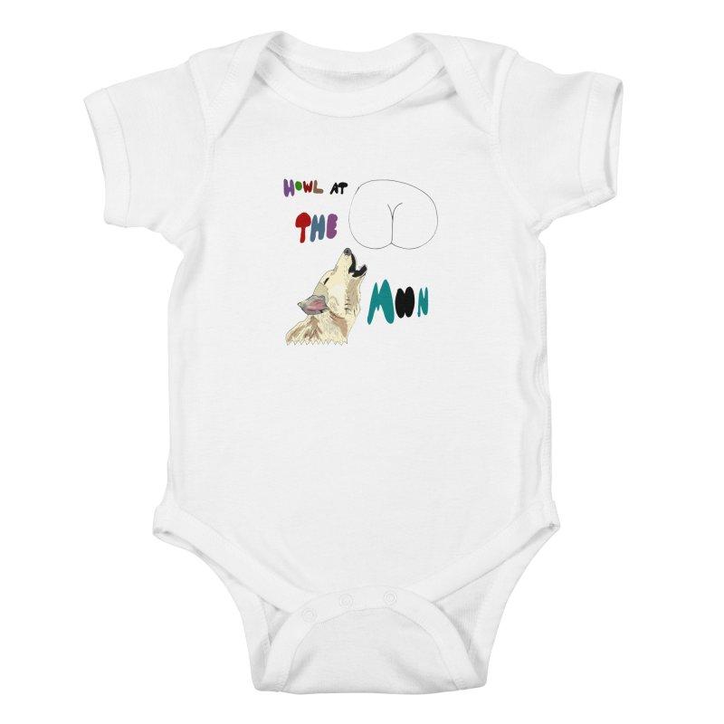 Howl at the Moon Kids Baby Bodysuit by LlamapajamaTs's Artist Shop