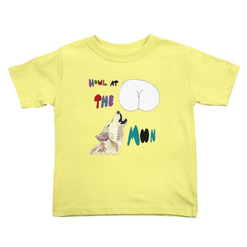 Howl at the Moon Kids Toddler T-Shirt by LlamapajamaTs's Artist Shop